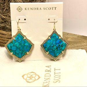 Kendra Scott Kirsten Drop Earrings In Turquoise